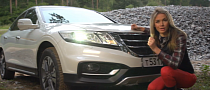 Sexy Anastasia Tests Honda's Crosstour [Video]