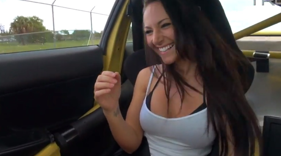 Sexy Girl Gets Terrifying Dirt and Gravel Ride in a ...
