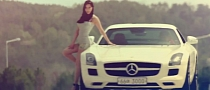 Sexy Korean Girl Takes Ride in Mercedes SLS [Video]