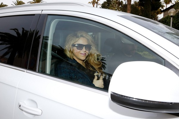 Shakira And Gerard Pique Seen Driving Away From Hospital