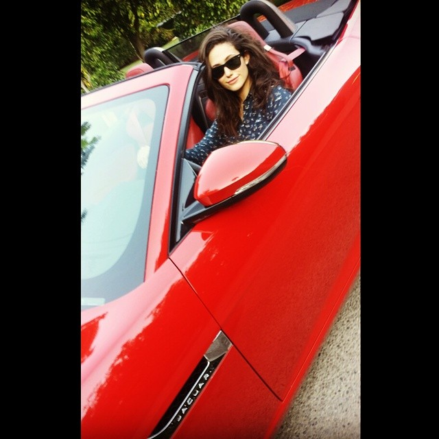 Someone Bought Her A Car After She Type: Shameless' Emmy Rossum Buys Jaguar F-Type: Red And Hot