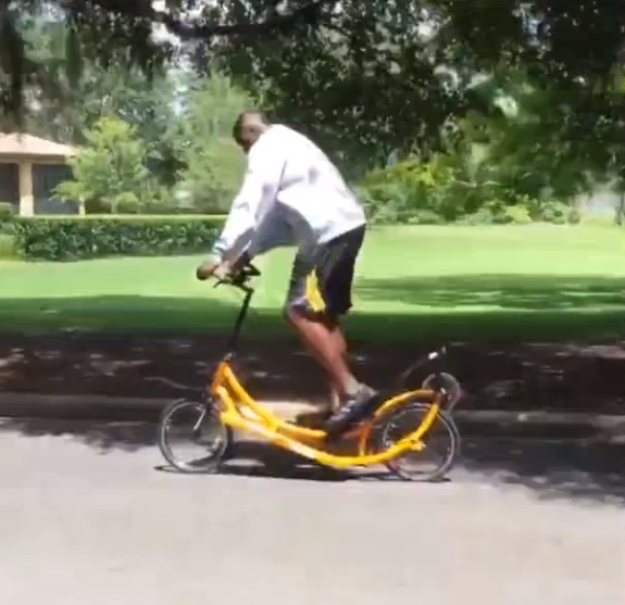 Shaquille O'Neal Rides Outdoor Elliptical Bike, Fans Want