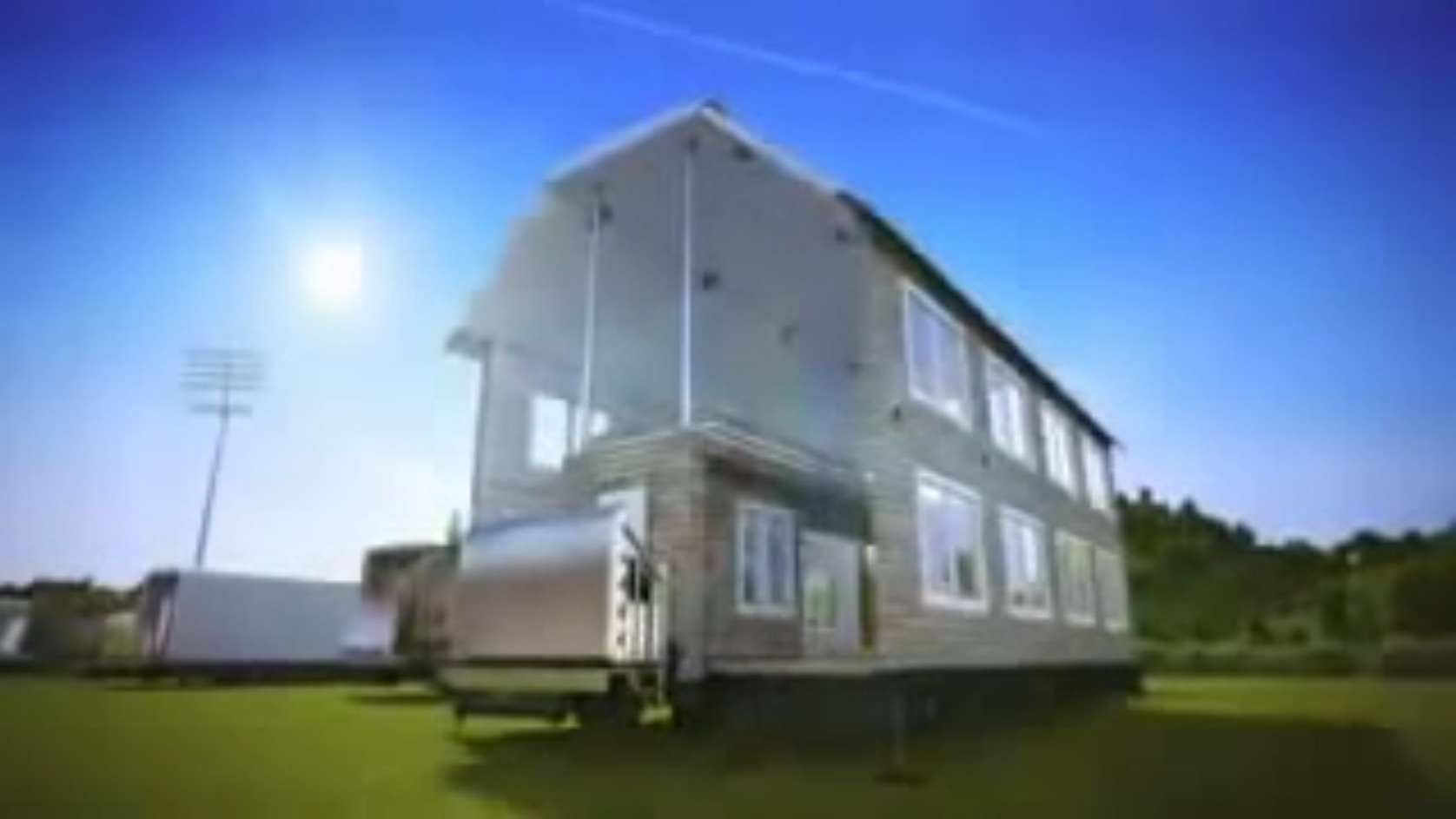 Shipping Containers Fold Out into Two Story Houses in this Highly ...