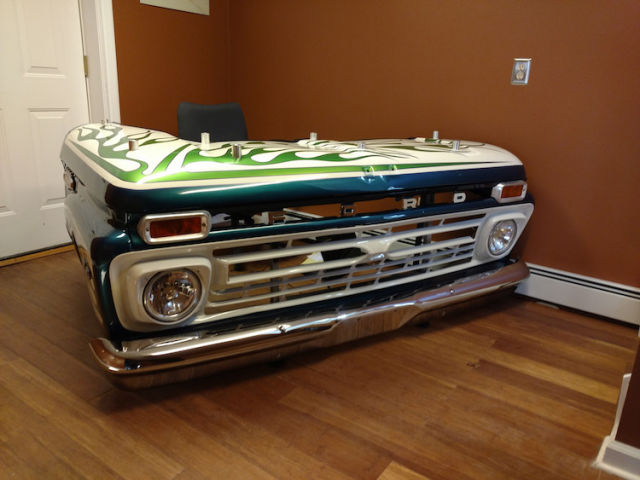 Shop Turns Classic Ford Pickup Truck Into A Desk Nobody S