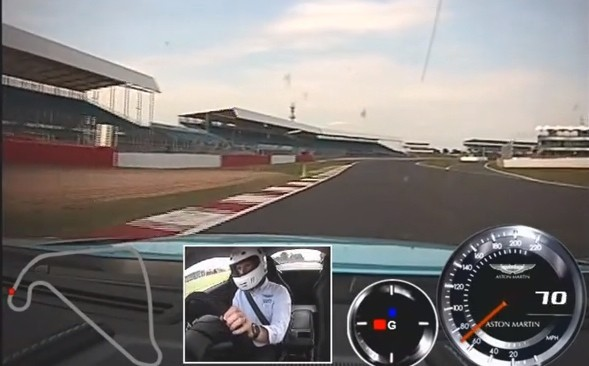 Shotgun Ride in Aston Martin V12 Vantage S at Silverstone [Video]