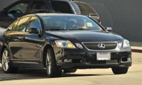 Sienna Miller in her black Lexus GS