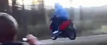 Silly Scooter Rider Crashes Into Innocent Tree [Video]