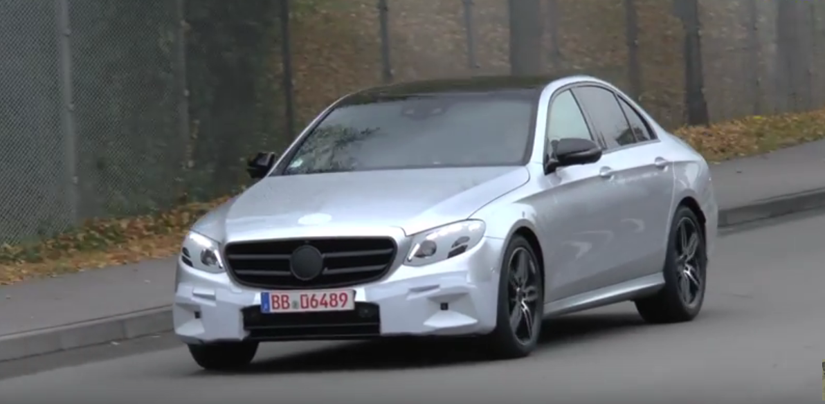 Silver 2017 Mercedes Benz E Cl Sedan Prototype W213 Reveals Almost Everything
