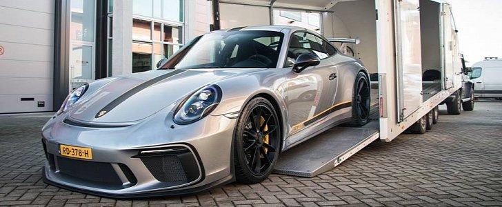 Silver 2018 Porsche 911 GT3 Gets Wasp Sticker Package