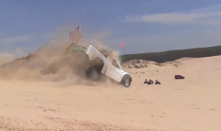 Silver Lake Big Jump Nearly Breaks Ford Truck in Half [Video]