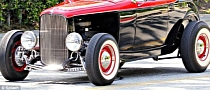 Simon Cowell in Custom 1932 Ford Hot Rod