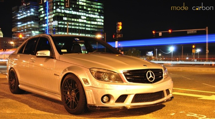 Sinister Silver Mercedes C63 AMG by Mode Carbon