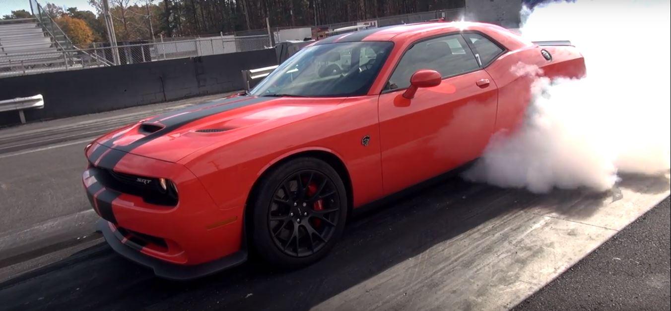 Manual Dodge Challenger Hellcat Gets Line Lock Monster