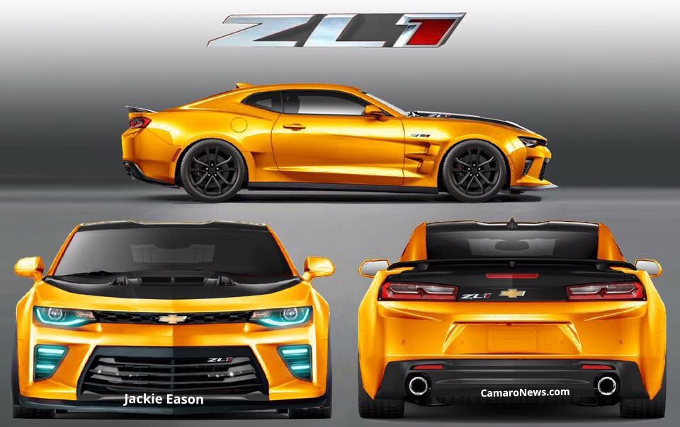 2018 Chevrolet Camaro ZL1 Rendering Throws Knives at the