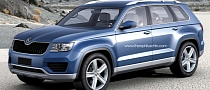 Skoda 7-Seater Crossover Imaginatively Rendered