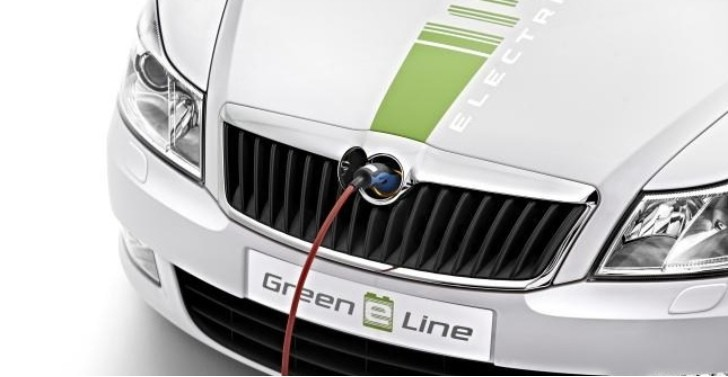 Skoda Employee Gets Keys to All-Electric Octavia