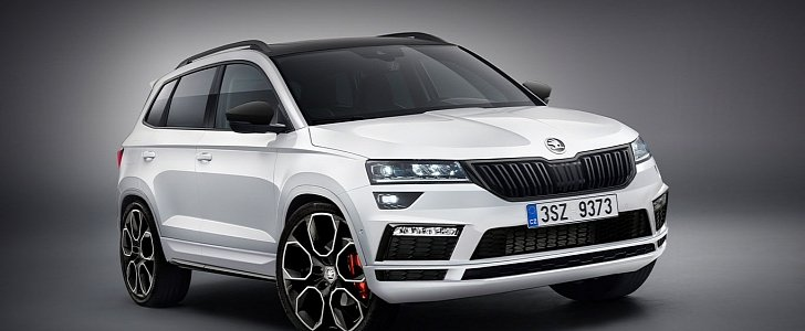skoda karoq rs and monte carlo trims rendered autoevolution. Black Bedroom Furniture Sets. Home Design Ideas