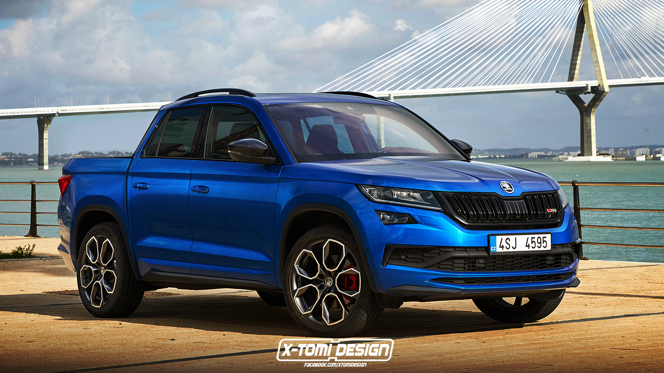 Skoda Kodiaq RS Pickup Is a Rendering Abomination - autoevolution