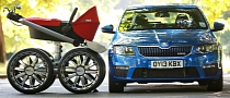 Skoda Makes a Huge Stroller: VRS Mega Man-Pram [Video]