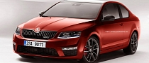 Skoda Octavia RS III Rendered as a Coupe