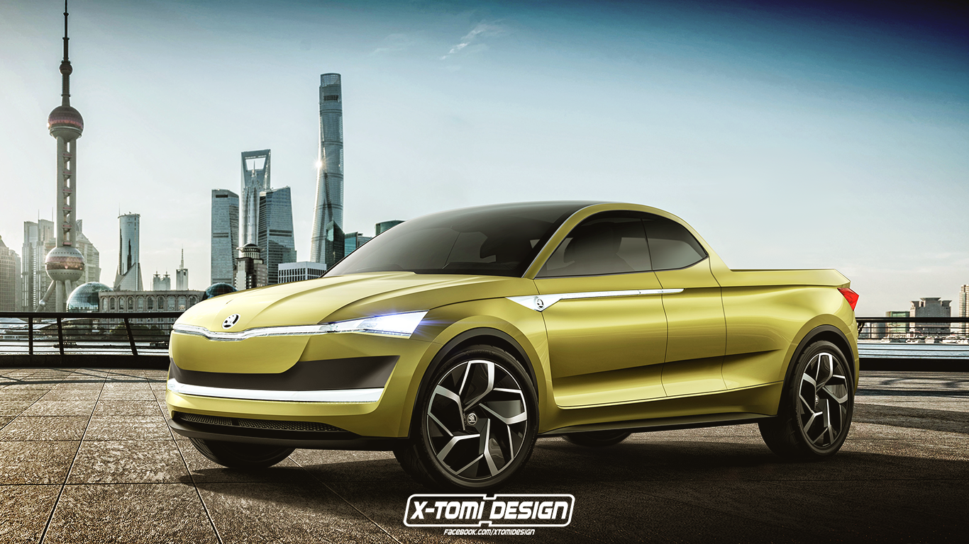 Skoda Pickup Rendering Looks like a Modern-Day Chevy El-Camino ...