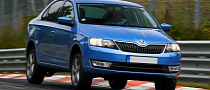 Skoda Rapid 1.2 TSI Raced at Nurburgring [Video]