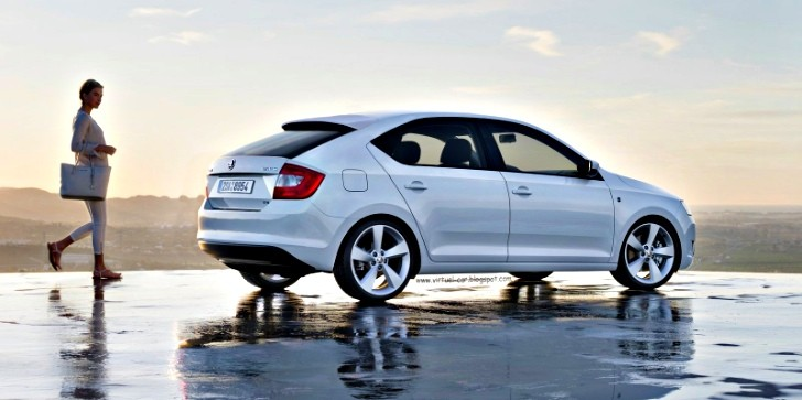 Skoda Rapid Hatchback Speculatively Rendered