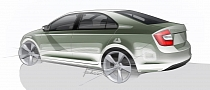 Skoda Rapid Official Sketches Revealed