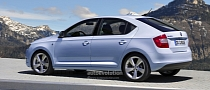 Skoda Rapid 'Spaceback' Speculatively Rendered