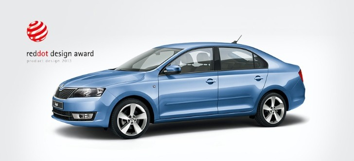 Skoda Rapid Wins Red Dot Design Award 2013