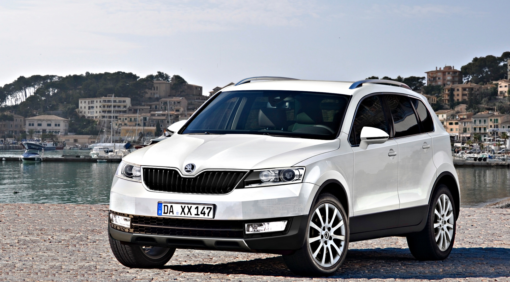 skoda snowman seven seater suv rendered autoevolution. Black Bedroom Furniture Sets. Home Design Ideas