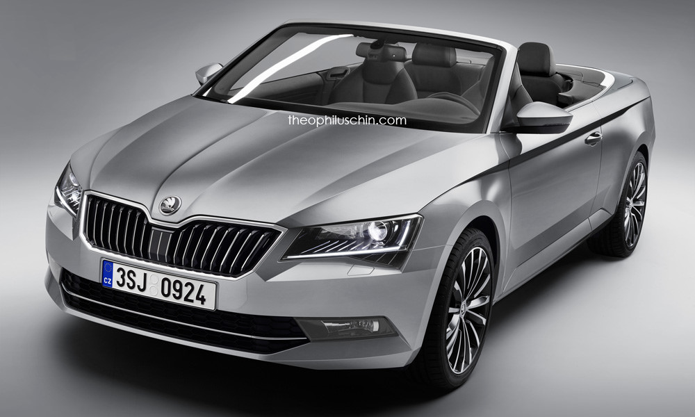 skoda superb convertible rendered would make a great