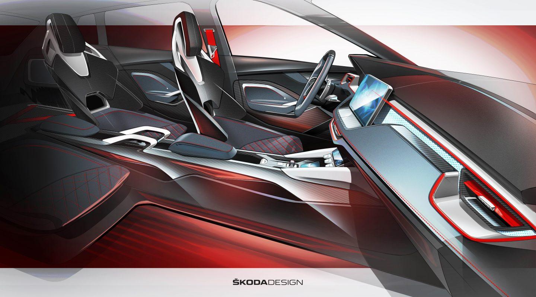 Skoda Rapid Spaceback >> Skoda Vision RS Interior Teased - autoevolution