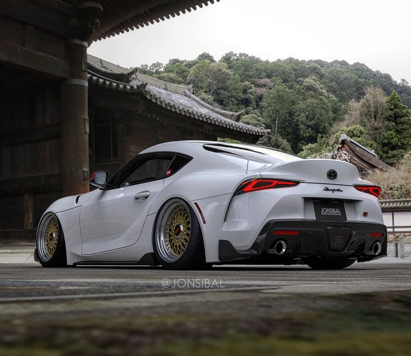 Slammed 2020 Supra On Custom Wheels Rendered As A Tuner S