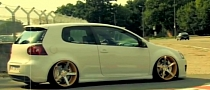 Slammed Golf GTI on 20-Inch Vossen Wheels [Video]