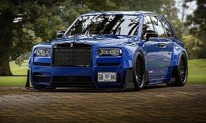 Slammed Rolls Royce Cullinan Is A Weird Drift Car Rendering