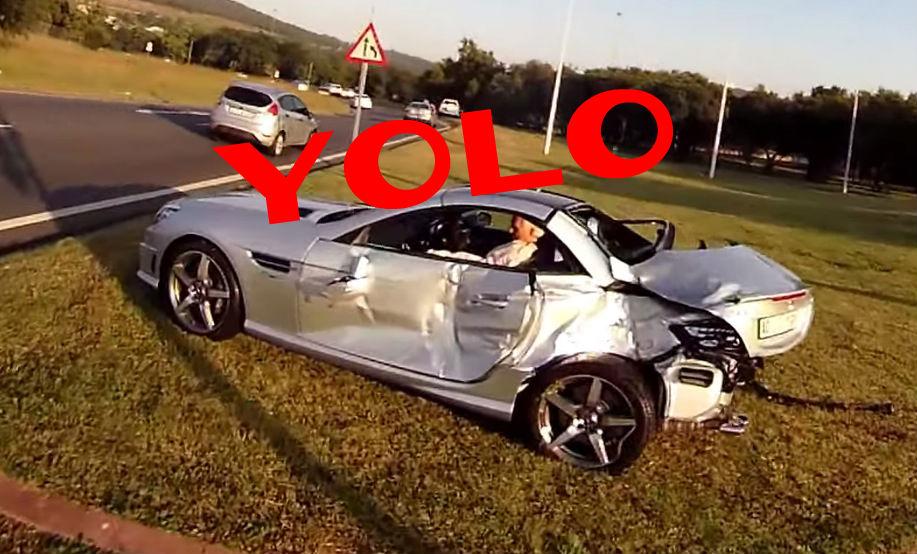 Slk 55 amg driver escapes ghastly coke truck crash for Mercedes benz slk 55 amg special edition