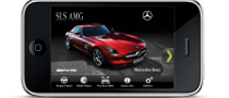 SLS AMG Gets Promoted on iPhone and Facebook