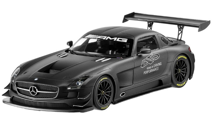 SLS AMG GT3 45th Anniversary Scale Model by Minischamps