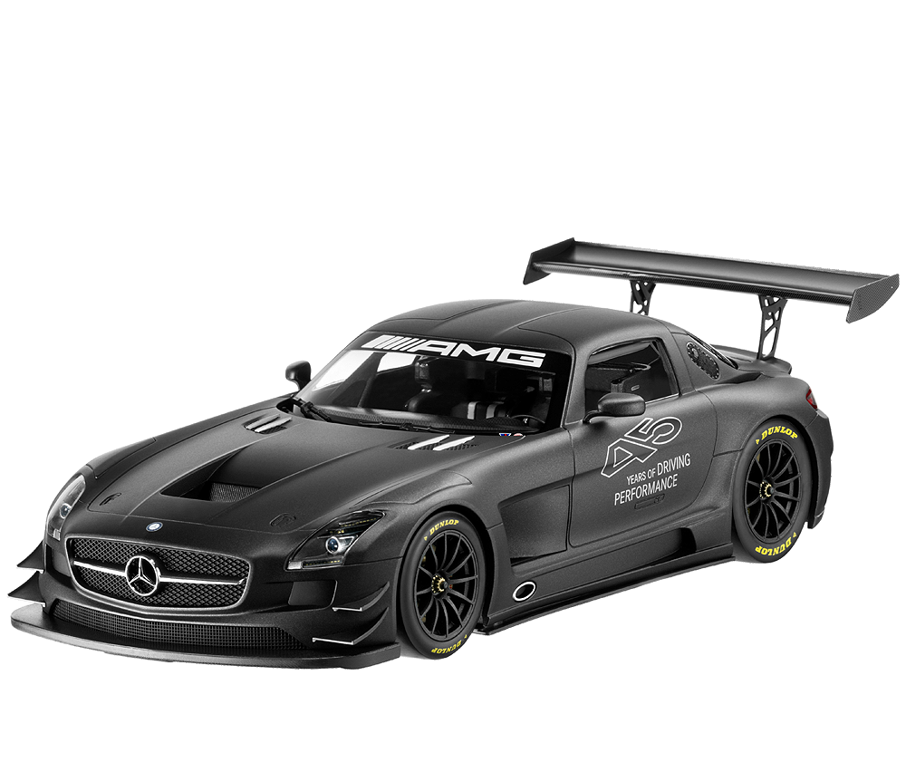 1 18 scale model of the mercedes benz sls amg gt3 45th anniversary