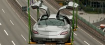 SLS AMG Spreads Its (Gull)Wings Over Stuttgart