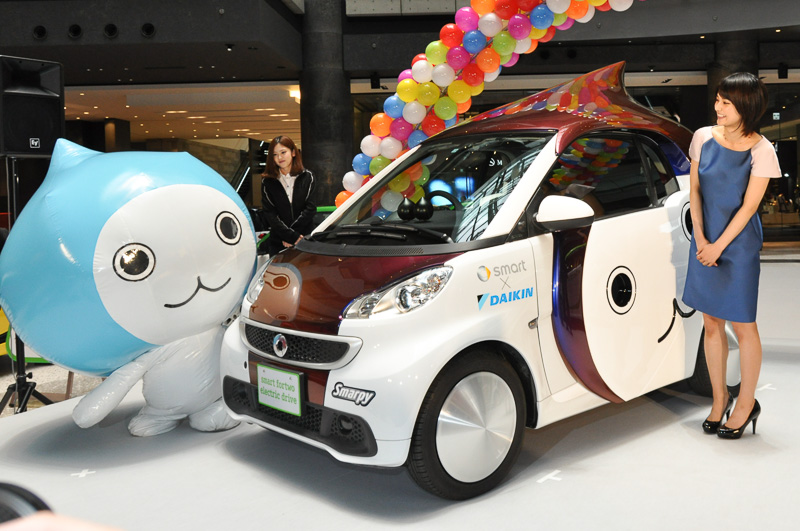 Smart Electric Cars Turned Into Pichon Kun Mascots In Japan