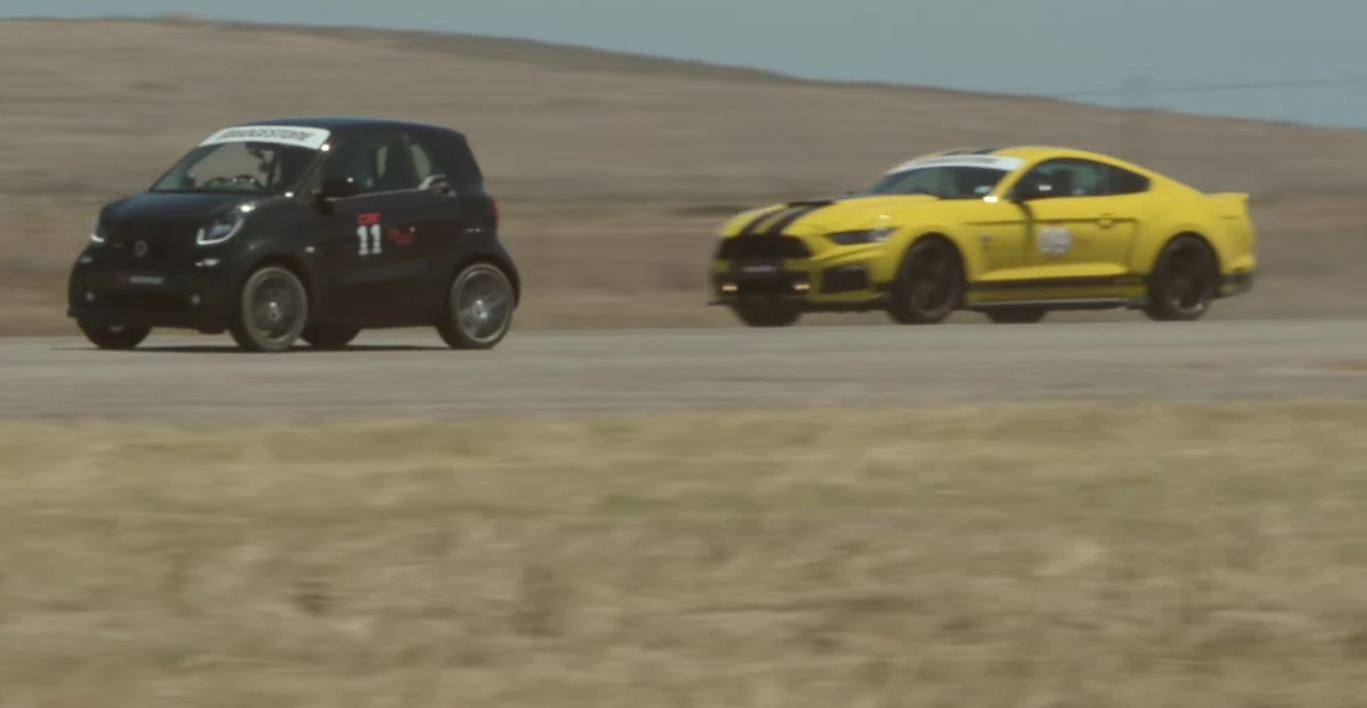 Smart Fortwo Brabus Races Roush Mustang Stage 3 For No Reason
