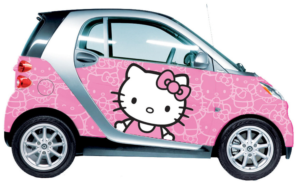 smart fortwo gets hello kitty car wrap designs autoevolution. Black Bedroom Furniture Sets. Home Design Ideas
