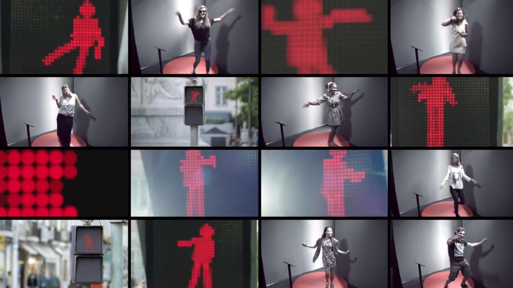 smart unveils the dancing traffic light concept