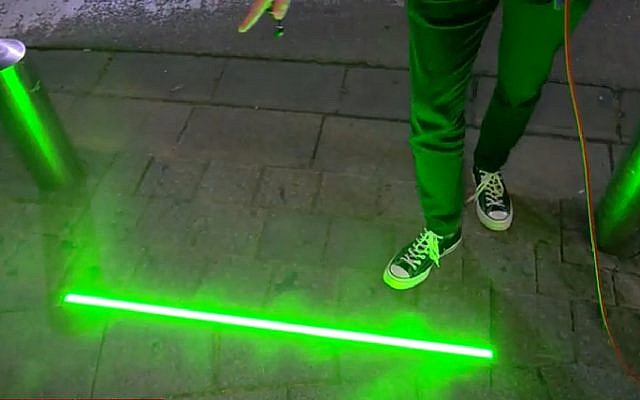 Smartphone Zombies Get Led Sidewalk Lights In Tel Aviv