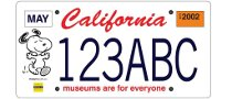 Snoopy License Plates in California