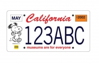Snoopy license plate sample