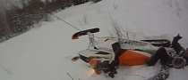 Snowmobile Rider Almost Beheaded by Wire [Video]