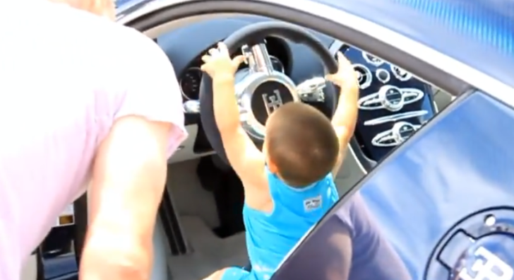 So Cute: Little Boy Starts a Bugatti Veyron [Video]